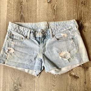 American Eagle Distressed Faded Jean Shorts